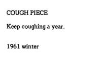 Yoko Ono - Cough Piece (1961)