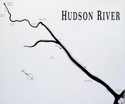 Hudson River map